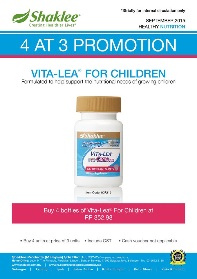 promo vitalea for children