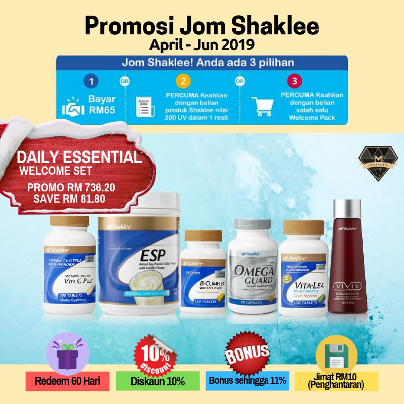 Shaklee Welcome Set Daily Essential
