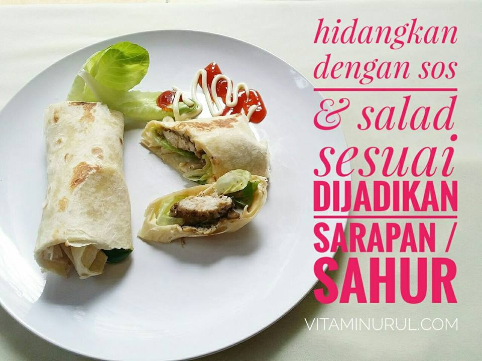 resepi grilled chicken wrap 24jpg